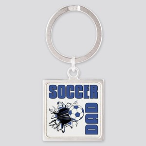 Soccer Dad Square Keychain
