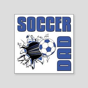 "Soccer Dad Square Sticker 3"" x 3"""