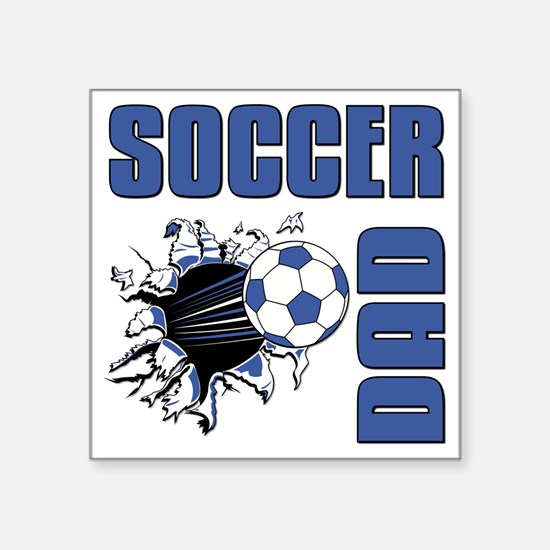 "Soccer Dad Square Sticker 3"" x 3"""