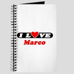 I Love Marco Journal