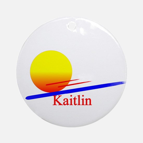 Kaitlin Ornament (Round)