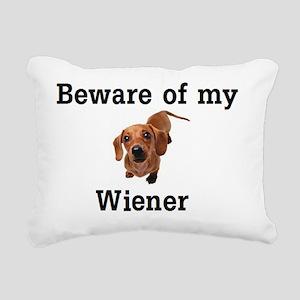 beware Rectangular Canvas Pillow