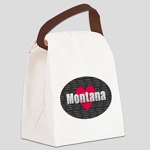 Montana w Heart Canvas Lunch Bag