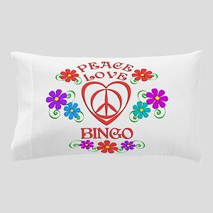 Peace Love Bingo Pillow Case