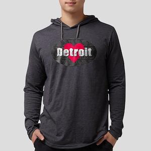 Detroit w Heart Long Sleeve T-Shirt