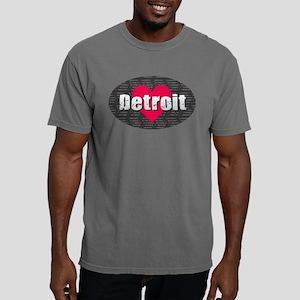 Detroit w Heart T-Shirt