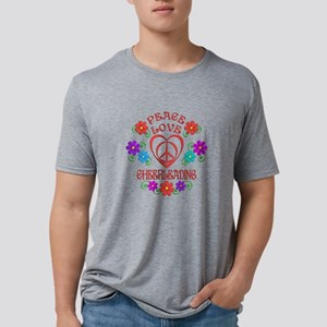 Peace Love Cheerleading Mens Tri-blend T-Shirt