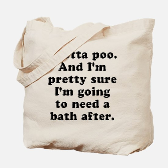 Poo Bath Tote Bag
