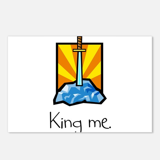 King me. Postcards (Package of 8)
