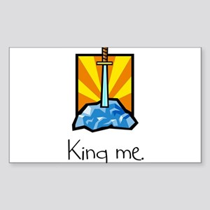 King me. Rectangle Sticker
