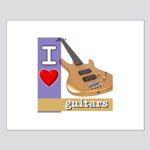 I Love Guitars Small Poster