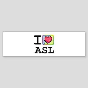 I Love ASL 1 Bumper Sticker