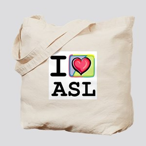 I Love ASL 1 Tote Bag