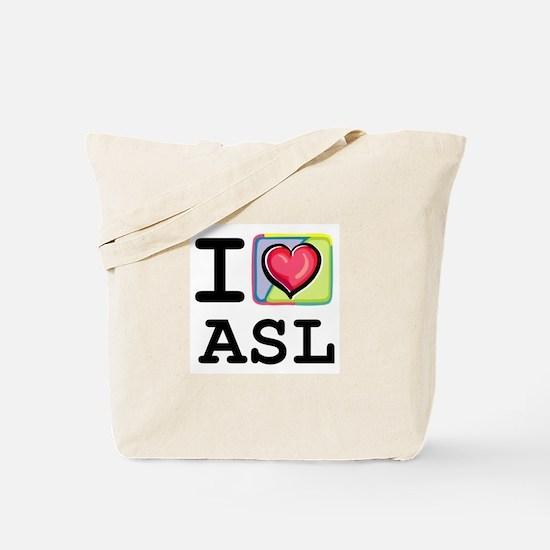 I Love ASL 1 Tote Bag