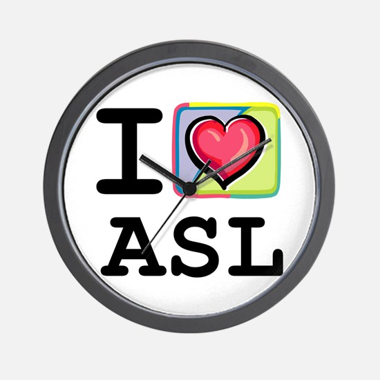 I Love Asl 1 Wall Clock