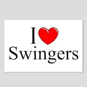 """I Love (Heart) Swingers"" Postcards (Package of 8)"