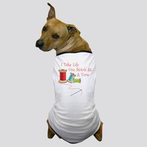 One Stitch at a Time Dog T-Shirt