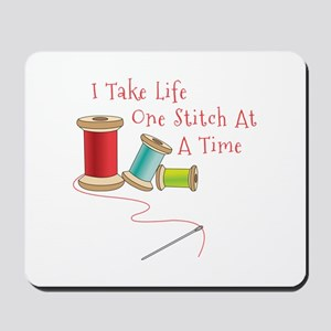 One Stitch at a Time Mousepad