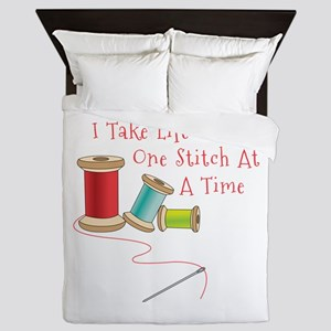 One Stitch at a Time Queen Duvet