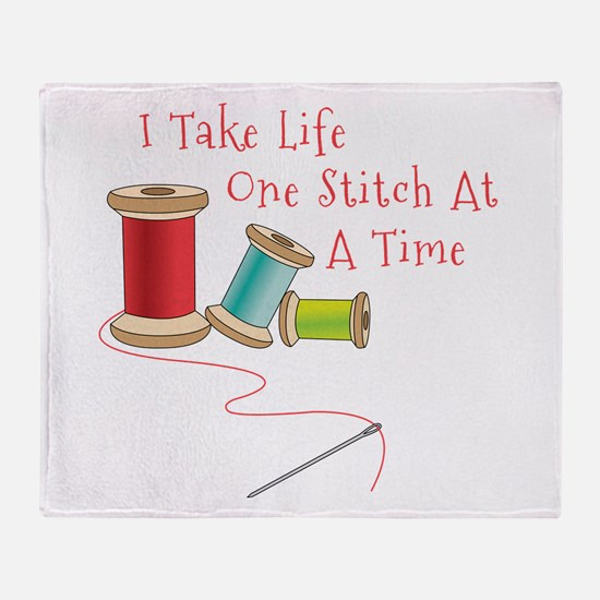 One Stitch at a Time Throw Blanket