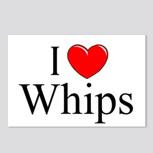 """I Love (Heart) Whips"" Postcards (Package of 8)"