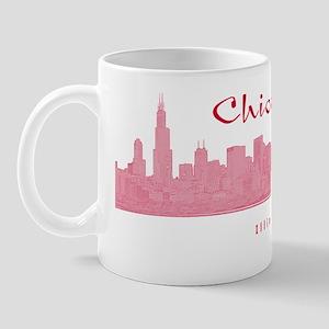 ChicagoSkyline_Rectangle_Red Mug