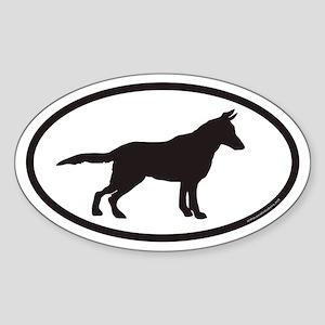 German Shepherd Euro Oval Bumper Sticker