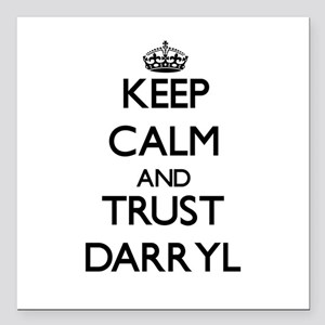 """Keep Calm and TRUST Darryl Square Car Magnet 3"""" x"""