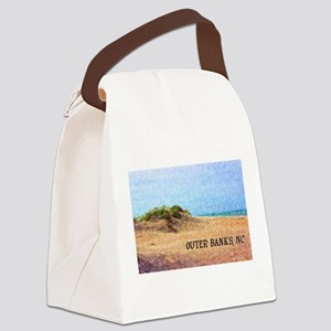 Outer Banks NC Beach Dune Canvas Lunch Bag