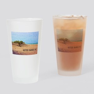 Outer Banks NC Beach Dune Drinking Glass