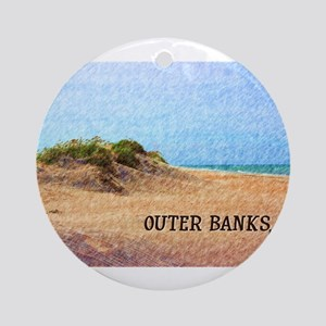 Outer Banks NC Beach Dune Round Ornament