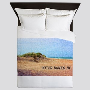 Outer Banks NC Beach Dune Queen Duvet