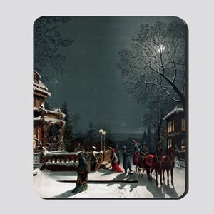 Vintage Christmas Eve Mousepad