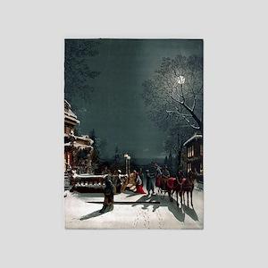 Vintage Christmas Eve 5'x7'Area Rug