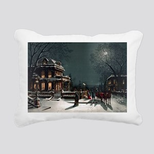 Vintage Christmas Eve Rectangular Canvas Pillow