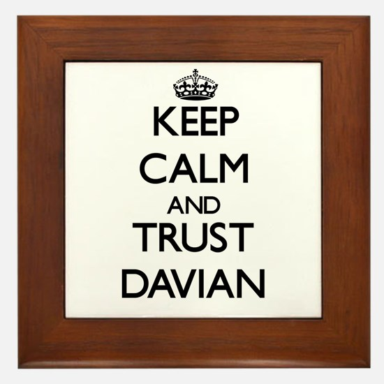 Keep Calm and TRUST Davian Framed Tile