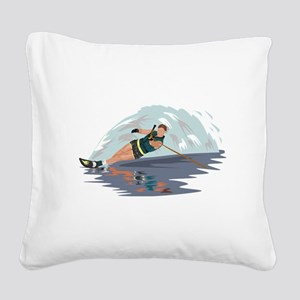 Water Skiing Square Canvas Pillow