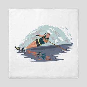Water Skiing Queen Duvet