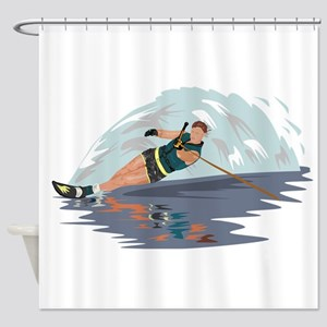 Water Skiing Shower Curtain