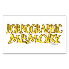 Pornographic Memory Rectangle Sticker