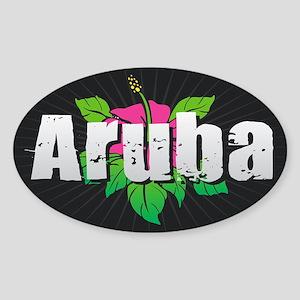 Aruba Hibiscus Sticker