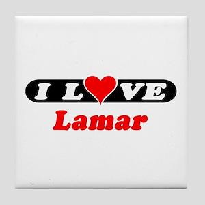 I Love Lamar Tile Coaster
