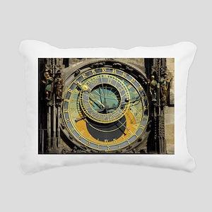 Prague Astronomy Clock Rectangular Canvas Pillow