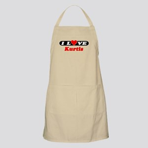 I Love Kurtis BBQ Apron