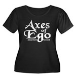 Axes of Ego Women's Plus Size Scoop Neck Dark T-Sh