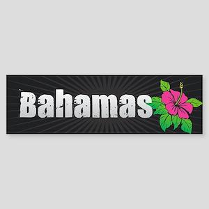 Bahamas Hibiscus Bumper Sticker