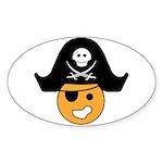 Happy Off-Road Pirate Oval Sticker