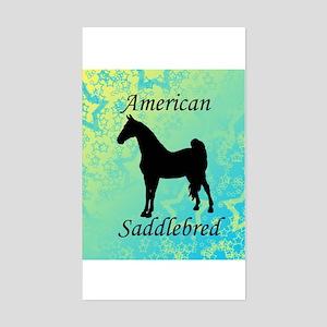 American Saddlebred Rectangle Sticker