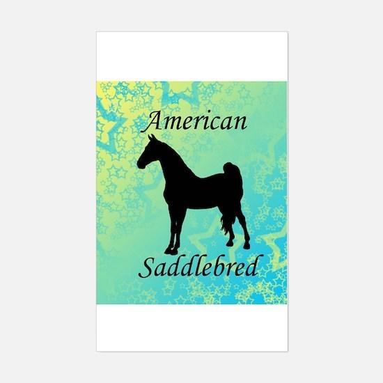 American Saddlebred Rectangle Bumper Stickers
