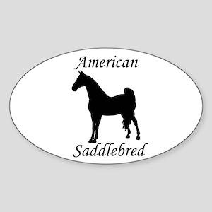 American Saddlebred Oval Sticker